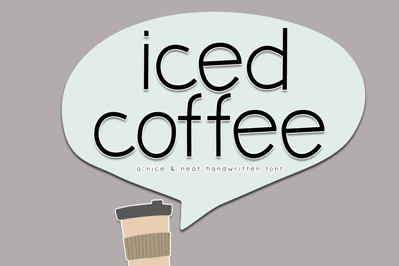 iced-coffee-nice-and-neat-handwritten-font