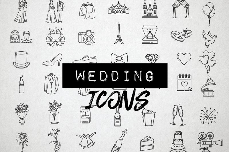 42-detailed-wedding-icons