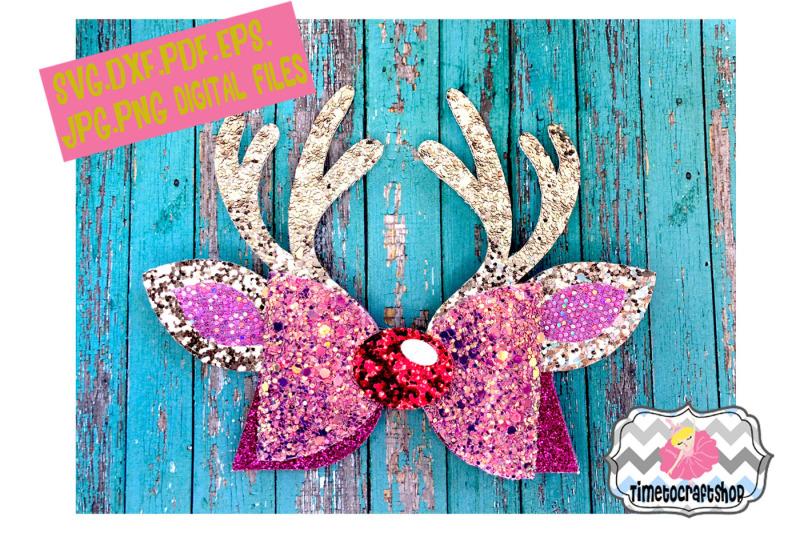 reindeer-antler-hair-bow-template-svg-dxf-pdf-eps-jpg