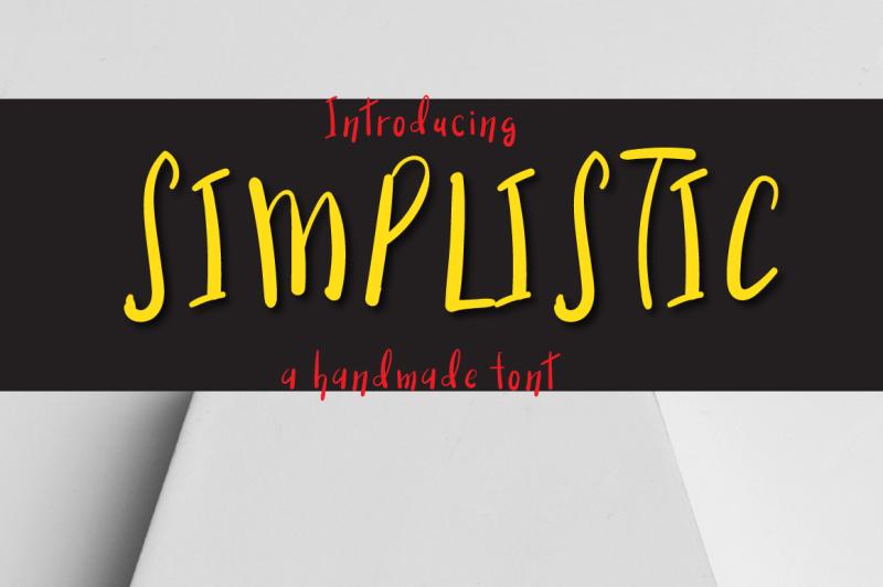 simplistic-typeface