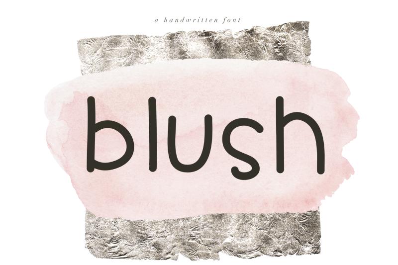 blush-cute-handwritten-font