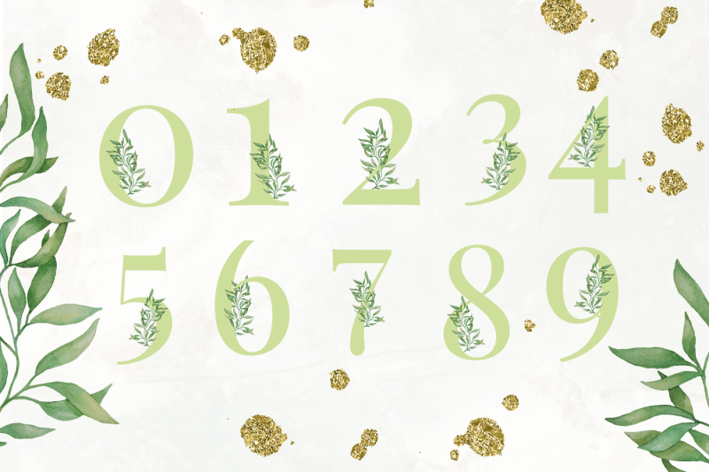 green-leaf-alphabet-and-graphics