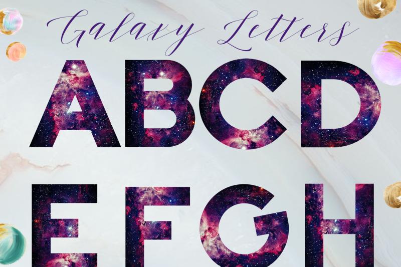 galaxy-style-alphabet