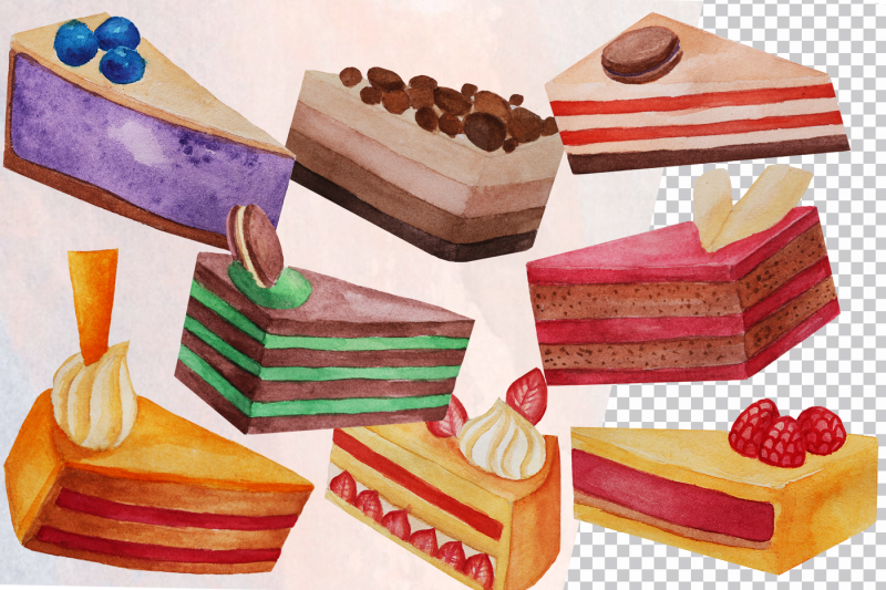 watercolor-cake-slices