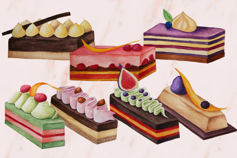 desserts-collection-watercolor-desserts