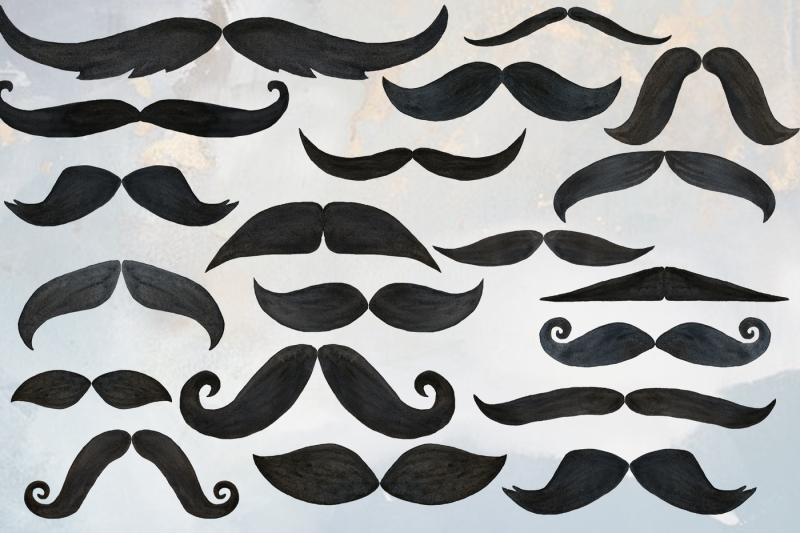 watercolor-mustaches-clip-art