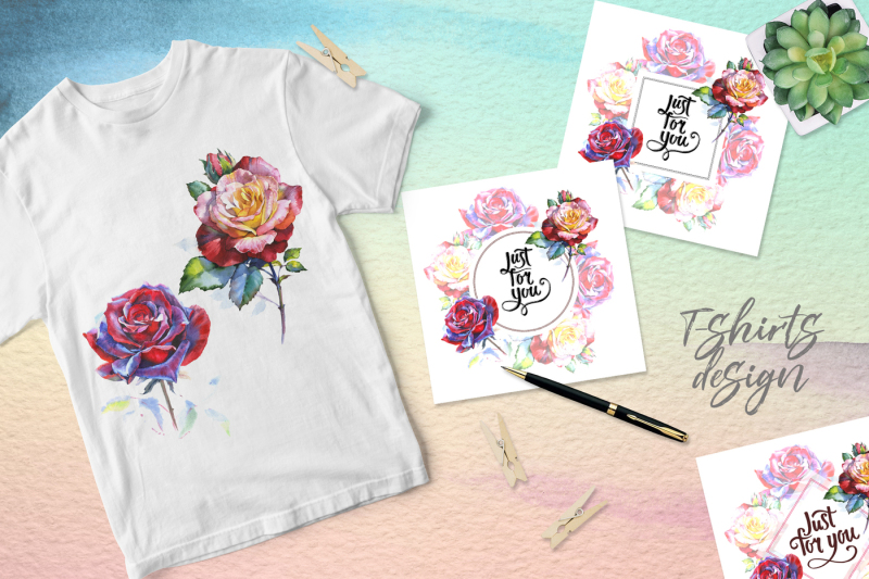realistic-watercolor-red-roses-png-set