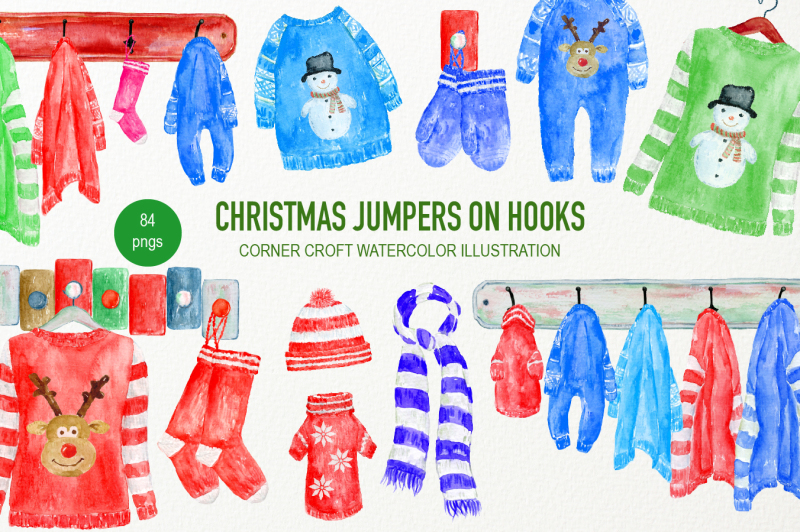 hand-painted-watercolor-christmas-jumpers-on-hooks-clipart