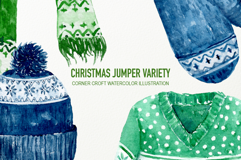 hand-painted-watercolor-christmas-jumpers-variety-clipart