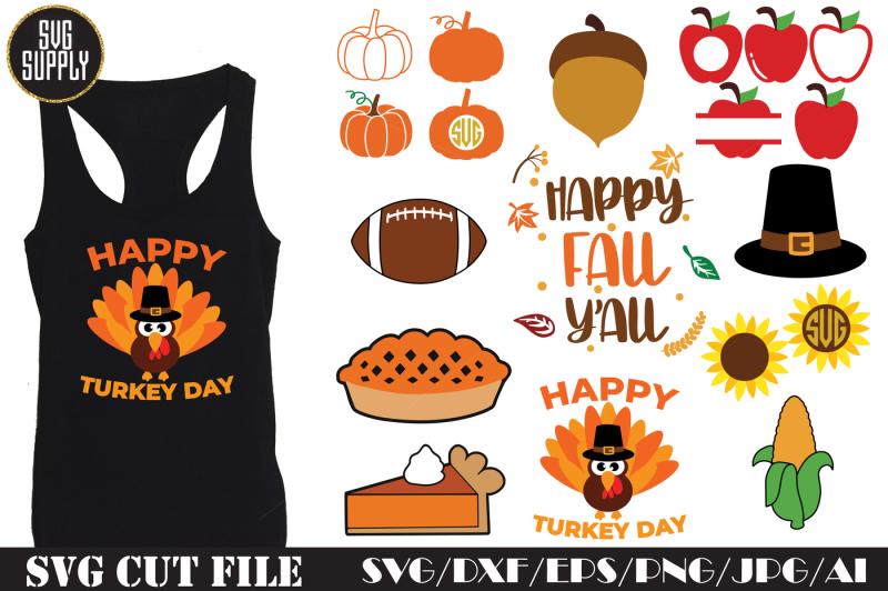 thanksgiving-set-svg-cut-file