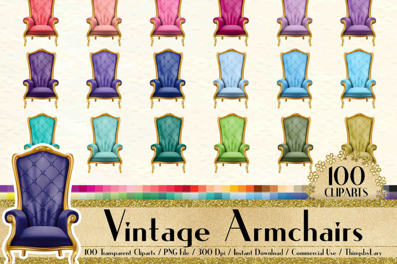 100-vintage-armchair-clip-arts-antique-retro-royal