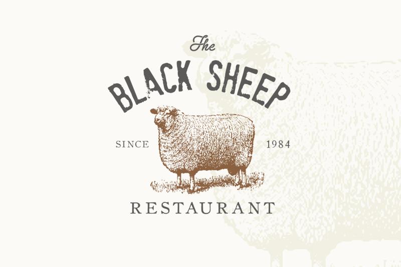 sheep-vintage-logo-business-card