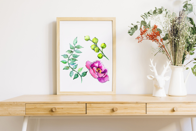 wonderful-tropical-plant-png-watercolor-set