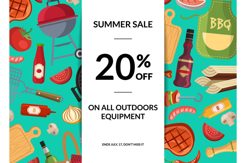vector-barbecue-or-grill-elements-horizontal-sale-background