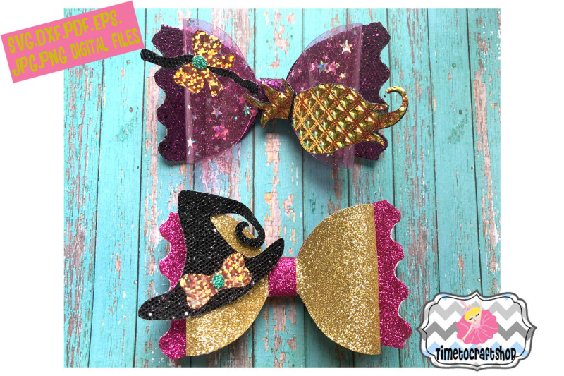 halloween-witch-and-broom-hair-bow-template-twin-set