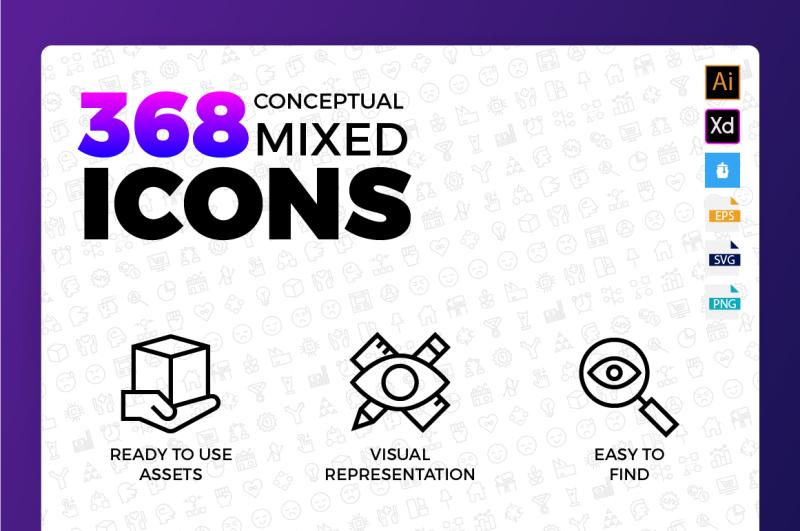 conceptual-mixed-icons
