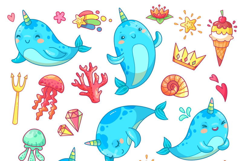 marine-kawaii-baby-unicorn-narwhal-swimming-blue-funny-anime-whale-ve
