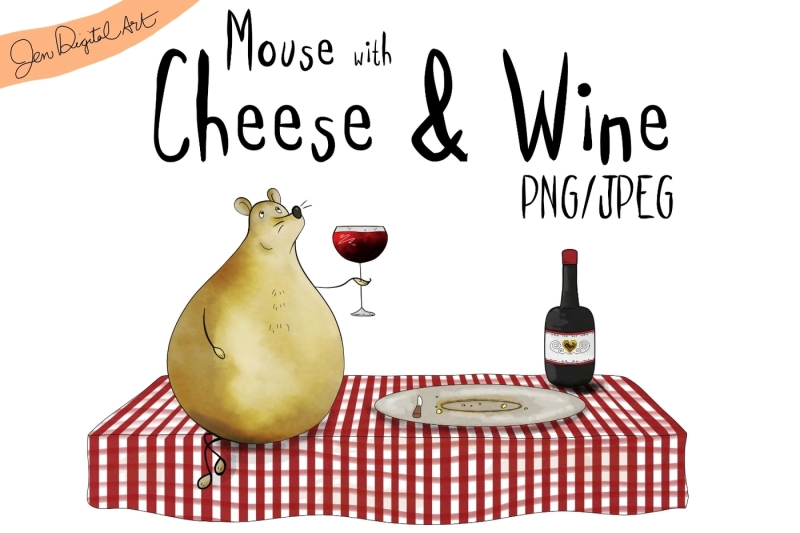 mouse-with-cheese-and-wine-clip-art-illustration-png-jpeg