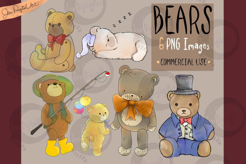 assorted-bears-6-png-clip-art-illustrations