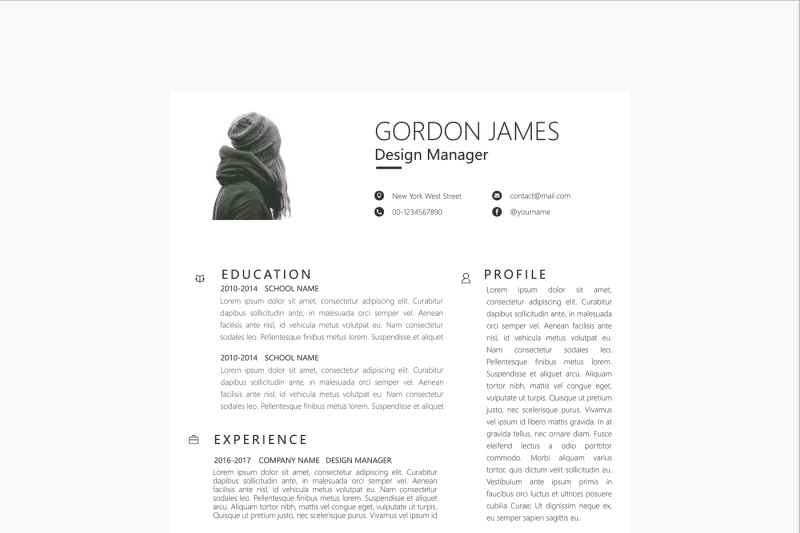 clean-businessman-resume-template