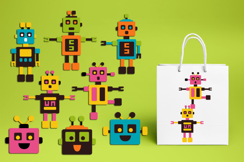 robot-clipart-graphics-vibrant-colors