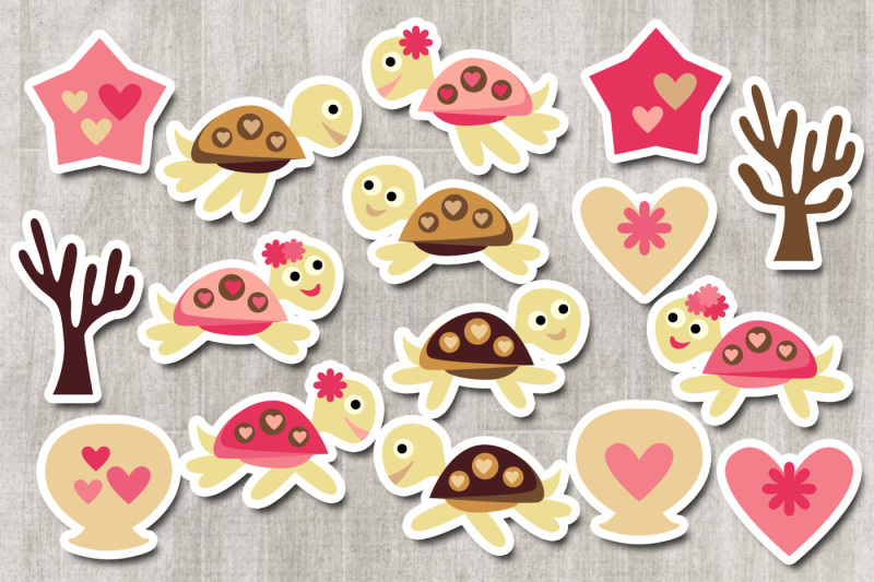 cute-sea-turtle-clipart-graphics-pink-brown
