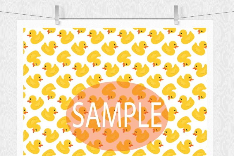 rubber-duck-digital-paper-rubber-ducky-scrapbook-paper