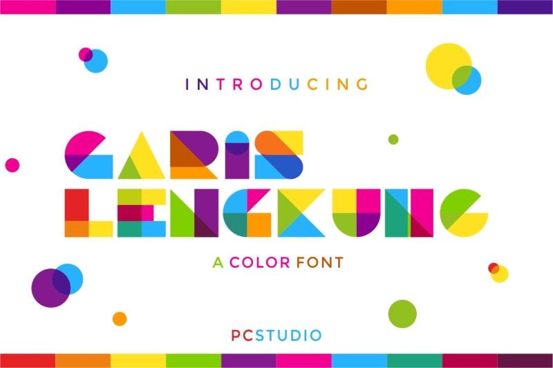 garis-lengkung-color-font