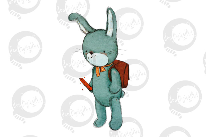 cartoon-rabbit-in-the-snow-comic-illustration