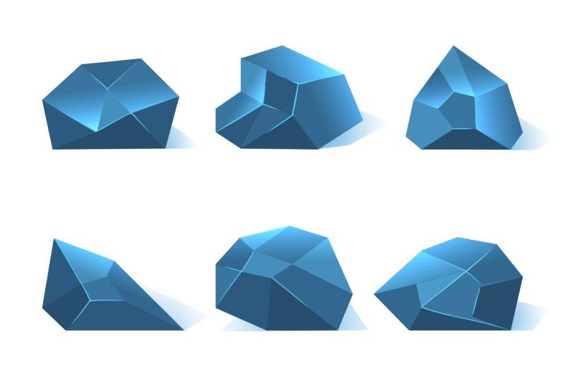ice-rock-pieces-vector-set