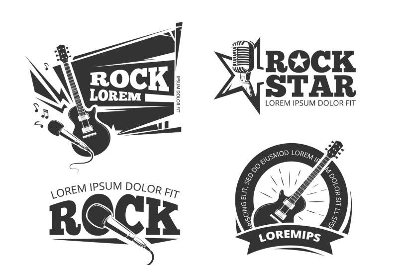 rock-music-shop-recording-studio-karaoke-club-vector-labels-badges