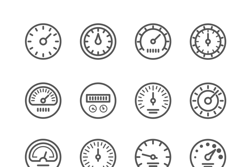 meter-manometers-speed-clock-measure-line-vector-icons