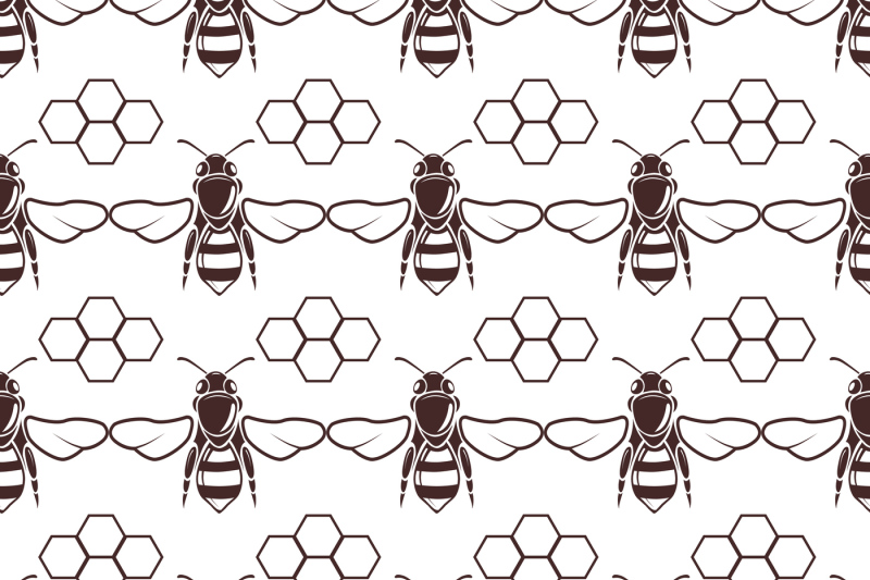 bee-and-honey-vector-seamless-background