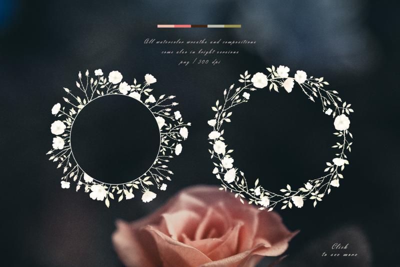 autumn-roses-watercolor-set