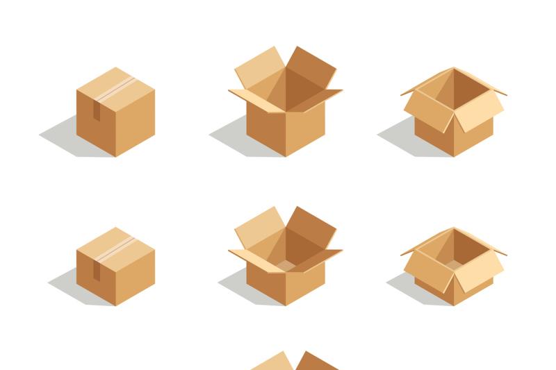 open-boxes-set-3d-isometric