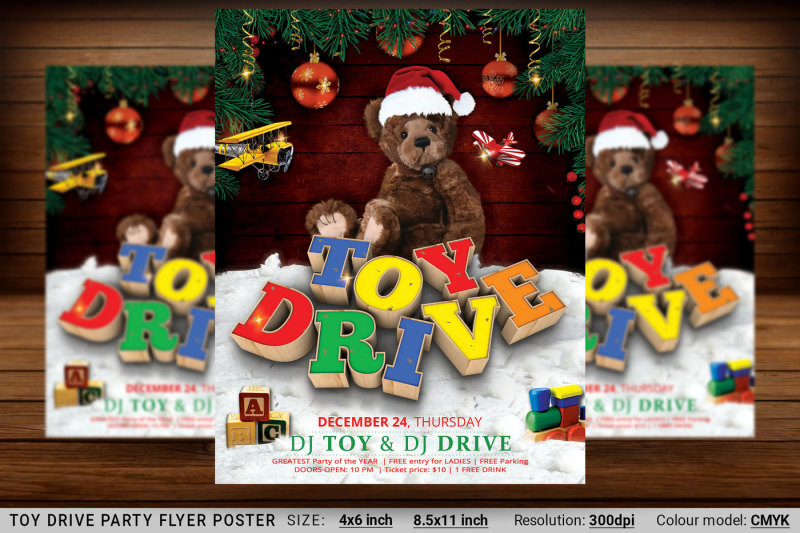 toy-drive-party-flyer-poster