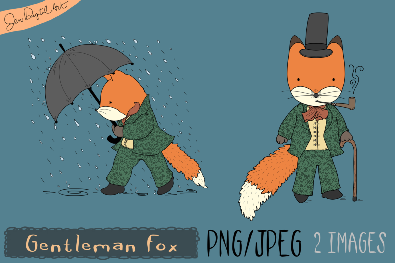 gentleman-fox-clip-art-illustration-png-jpeg