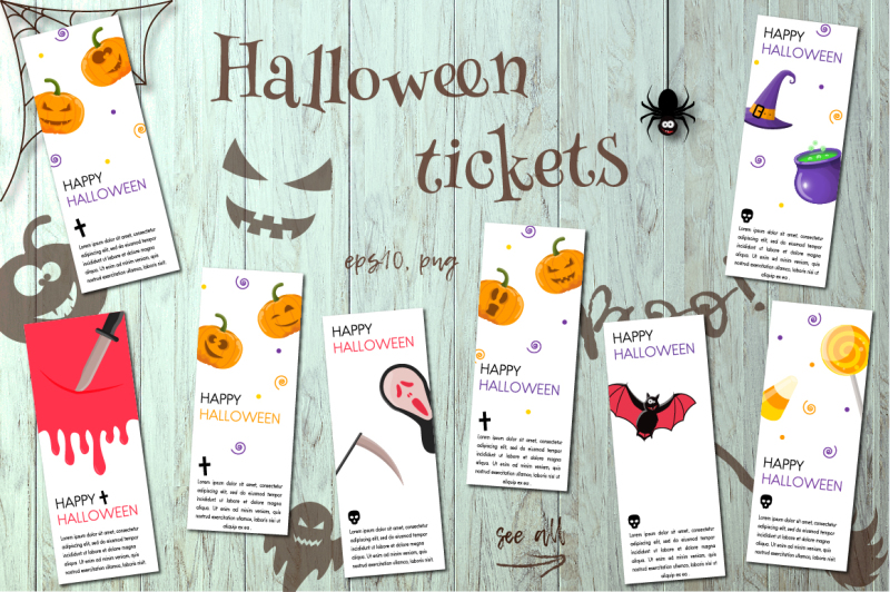 haloween-party-tickets-collection