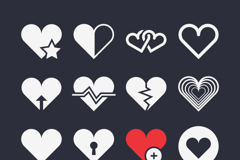 abstract-heart-vector-icons