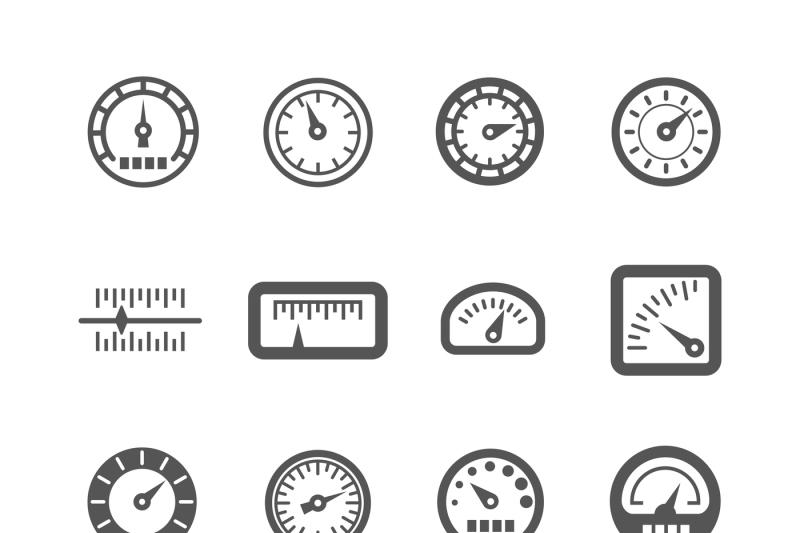 meter-control-panel-speedometer-vector-icons-set
