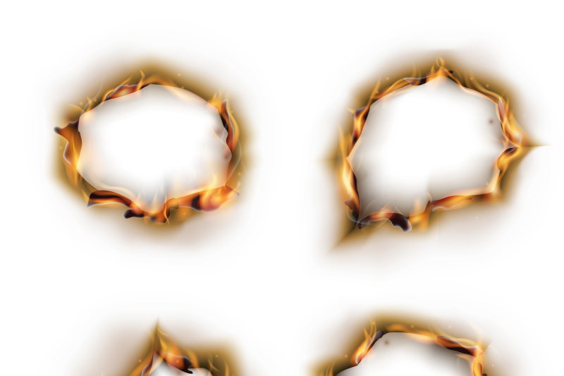 paper-on-fire-with-burnt-holes-vector-set