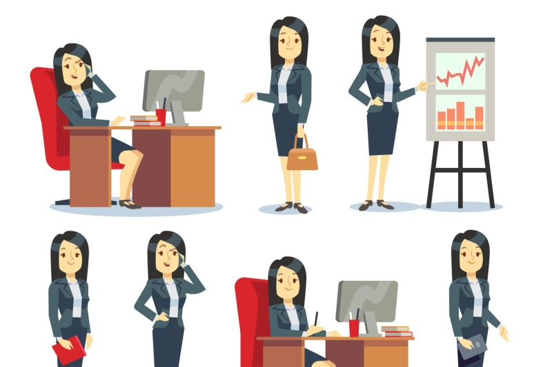 office-businesswoman-in-various-situations-vector-characters-cartoon-f