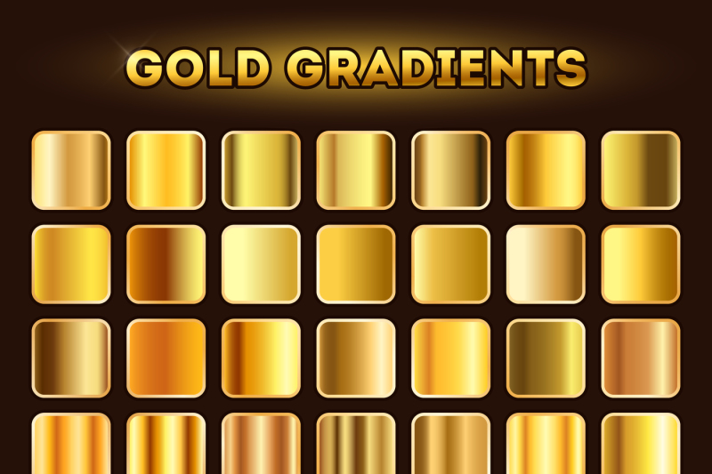 gold-gradients-vector-set