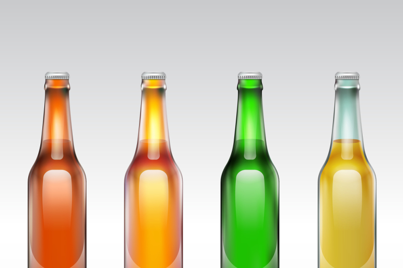 beer-glass-bottle-vector-set-isolated-on-white