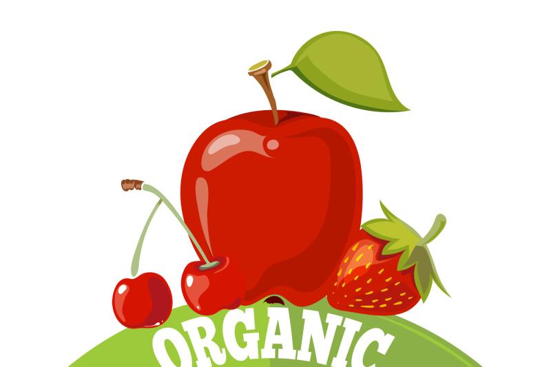 organic-fresh-fruits-logo-label-badge