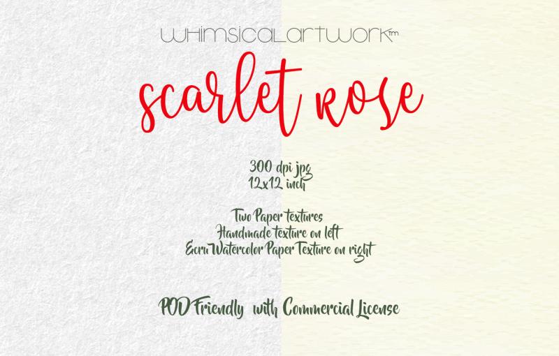 scarlet-rose-watercolor-floral-elements