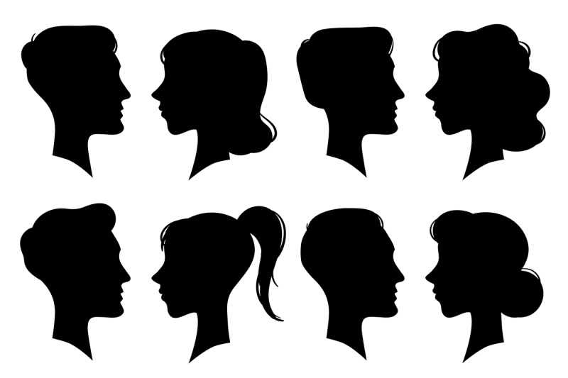 female-and-male-faces-silhouettes-in-vintage-cameo-style-retro-woman