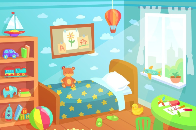 cartoon-kids-bedroom-interior-home-childrens-room-with-kid-bed-child