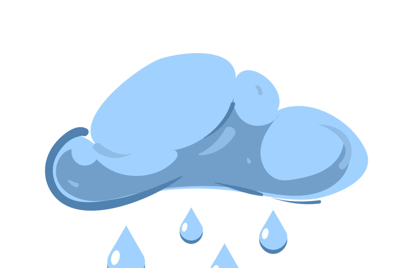 blue-vector-cloud-with-falling-rain-isolated-over-white