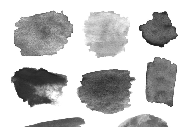 170 Watercolor Brushes Pack for Photoshop By yurlick | TheHungryJPEG com